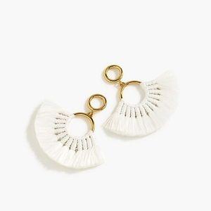 NWT J. Crew Fan Tassel Earrings